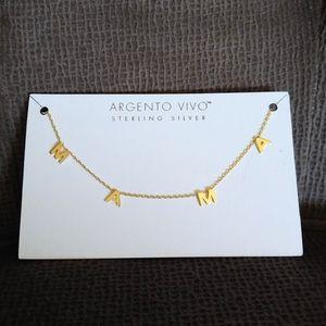 "Argento Vivo Stationary ""MAMA""👩👧👦 Necklace"